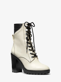 [object Object] Bastian Leather Combat Boot