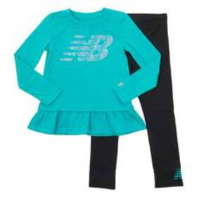 Girls (4-6x) New Balance Pants Set - Verdite