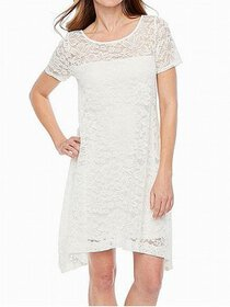 Signature By Robbie Bee Small Petite Lace Shift Dr