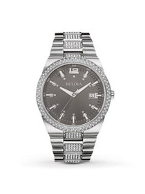 Bulova Men's Classic Crystal Stainless Steel Watch