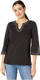 Tommy Bahama Luxe Sparkle Embellished Cotton Tunic
