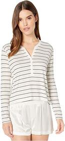 Splendid Striped Henley Long Sleeve