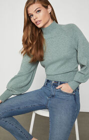 BCBG Merino Bell Sleeve Sweater