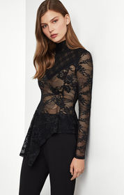 BCBG Sheer Lace Top