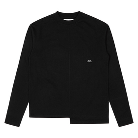 Oakley Geometric Stitch Long Sleeve Tee Osr - Blac