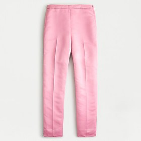 J. Crew High-rise cigarette pant in satin