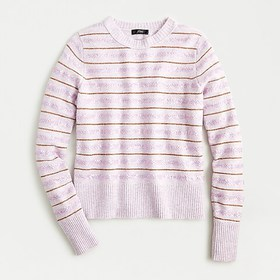 J. Crew Sequin striped sweater in supersoft yarn