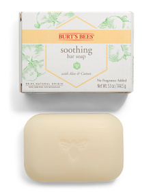 BURT'S BEES 5.1oz Soothing Aloe & Cotton Bar Soap