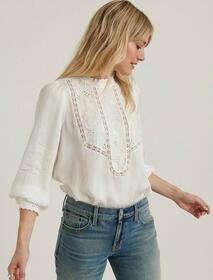 Lucky Brand Florence Embroidered Top