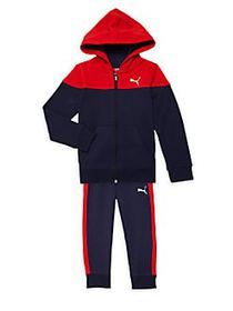 PUMA Little Boy's 2-Piece Cotton-Blend Hooded Jack