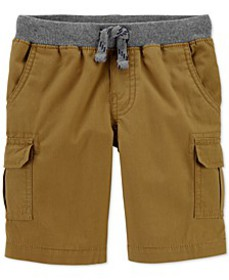 Toddler Boys Pull-On Cotton Cargo Shorts