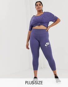 Nike Air Running Plus leggings in blue