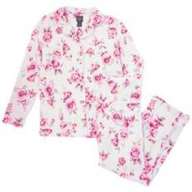 Laura Ashley® Long Sleeve Faded Floral Notch Colla