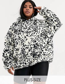 New Girl Order Curve oversized hoodie in dalmatian