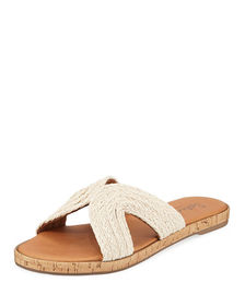 Splendid Suzette Braided-Jute Slide Sandals