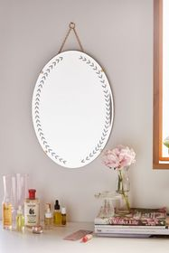 Emerson Etched Oval Wall Mirror