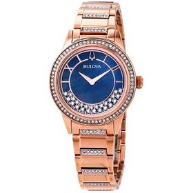 BulovaCrystal TurnStyle Blue Mother of Pearl Dial