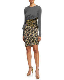 Altuzarra Jersey Paisley Skirt Bodycon Dress