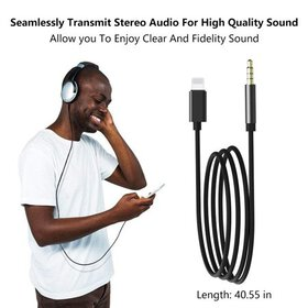 Aux Cord for iPhone Adapter, 3.5mm Aux Cable for i