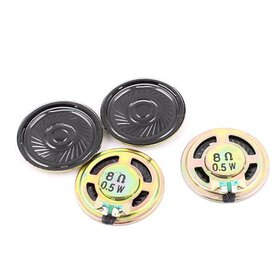 4 Pcs 36mm 8 Ohm 0.5W Metal External Magnetic Spea