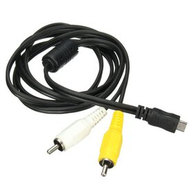 Micro USB Male to 2 RCA AV Adapter Audio Video Cab