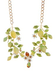 Dolce & Gabbana Lemon Branch Statement Collar Neck