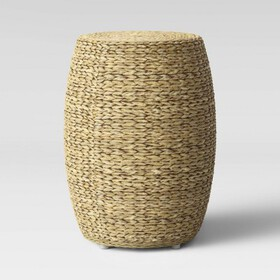 Durham Round Woven Accent Table Natural Brown - Th