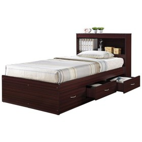 Twin Size Captain Bed with 3 Drawers and Headboard