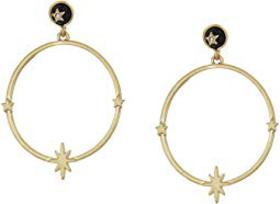 Lucky Brand Agate with Star Hoop Earrings