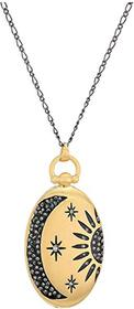 Lucky Brand Sun and Moon Pave Pendant Necklace