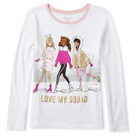 Girls Glitter Squad Graphic Tee
