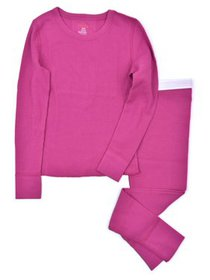 Hanes Girl's X-Temp Thermal Waffle Underwear Set w