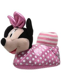 Disney Girls Minnie Mouse Slip On Polka Dot Novelt