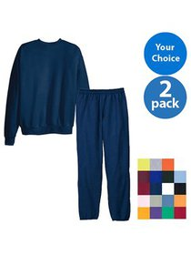 Hanes Men's EcoSmart Fleece Crew and Pant Set, 2 p