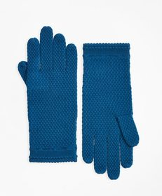 Brooks Brothers Waffle-Knit Merino Wool Gloves