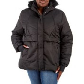 XOXO Junior Plus Flap-Front Parka with Hood