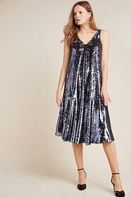Anthropologie Sybil Sequined Dress