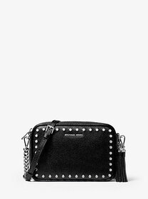 [object Object] Ginny Medium Studded Pebbled Leath