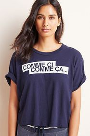 Anthropologie Sundry Comme Ci Graphic Tee