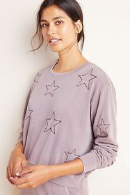 Anthropologie Sundry Stitched Star Pullover
