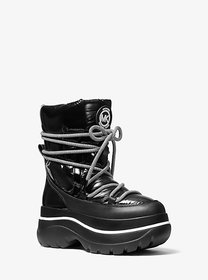 [object Object] Zadie Mixed-Media Moon Boot