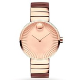 MOVADO Movado Edge Womens Faceted Dial Rose Gold B