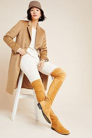 Anthropologie Silent D Leer Over-The-Knee Boots
