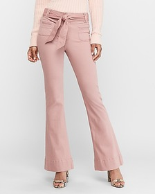 Express high waisted belted flare pant