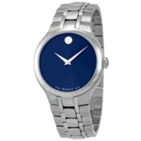 MOVADO Movado Collection Mens Blue Dial Brushed St