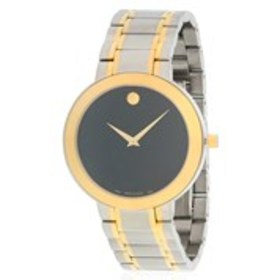 MOVADO Movado Stiri Mens Black Dial Two-Tone Dress