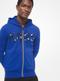 [object Object] KORS Cotton-Blend Zip-Up Hoodie