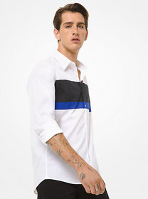 [object Object] Slim-Fit Color-Block Stretch-Cotto