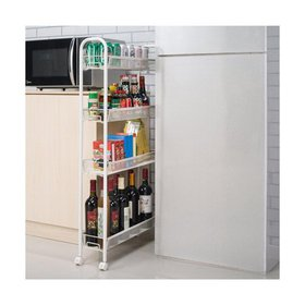 Ktaxon 4-Tier Kitchen Slilm Rolling Storage Cart S