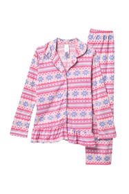 Jessica Simpson Ruffle Long Sleeve Pajama Set (Lit